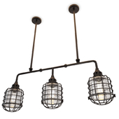 Industrial Trio Pendant Light Connell