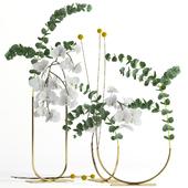 Plants in metal vases Fresh