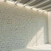 Кирпичная стена. Старый кирпич. 73