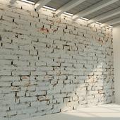 Кирпичная стена. Старый кирпич. 76