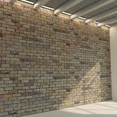 Кирпичная стена. Старый кирпич. 77