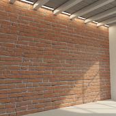 Кирпичная стена. Старый кирпич. 78