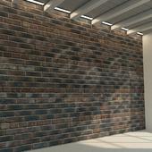 Кирпичная стена. Старый кирпич. 80
