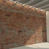 Кирпичная стена. Старый кирпич. 81