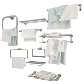 Metallic Wall Towel Holders