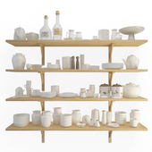 Crockery shelves