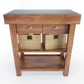 Wooden Side Cabinet And Baskets