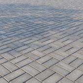 Бетонная тротуарная плитка «Прямоугольник» 200х100 мм Узор 5 Серая