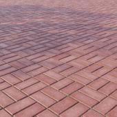 Бетонная тротуарная плитка «Прямоугольник» 200х100 мм Узор 5 Красная