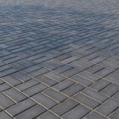 Бетонная тротуарная плитка «Прямоугольник» 200х100 мм Узор 5 Тёмно-серая