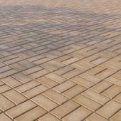 Бетонная тротуарная плитка «Прямоугольник» 200х100 мм Узор 5 Жёлтая
