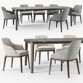Poliform Sophie armchair Henry table