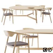 Mawari Table by Mattiazzi