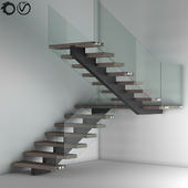 Glass fencing Modern Stair