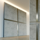 Decorative wall. Soft panel. 68