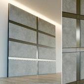 Decorative wall. Soft panel. 69