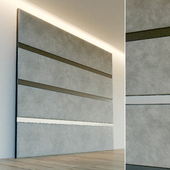 Decorative wall. Soft panel. 70