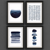Abstract paint set