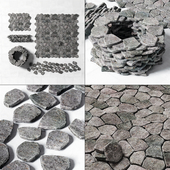 Rock Stone paving wall road / Rocky Stone for paving road walls