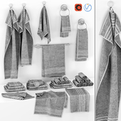 set of gray towels