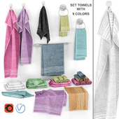 set of towels with 9 colors