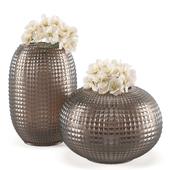 Ваза Kelly Hoppen Smoke Triada Round Vase Tall and Wide