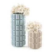 Вазы Kelly Hoppen Geometric Vase Tall and Small