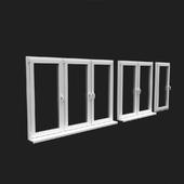 окна ПВХ с подоконником стандартные