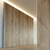 Decorative wall. Wall panel made of wood. one