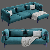 Moroso Belt Double and Corner Sofa with Chaise
