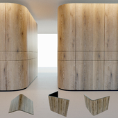 Wall panel made of wood. Decorative wall.2