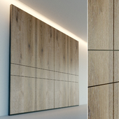Wall panel made of wood. Decorative wall. 3