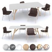 Pianca - Maestro Table, Alunna Chair