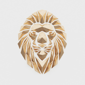 Polygonal golden lion