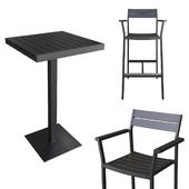 Eos Bar-Height Table & Barstool