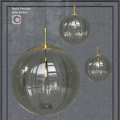 Pendant lamp Hector Finch Paola Pendant Grigio Gold Large