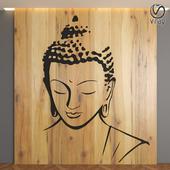 Buddha Panel 3D Decorative Partition Wall