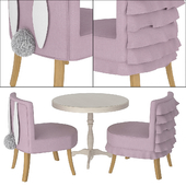Children's table with chairs Amari