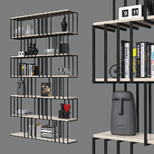 Double-sided shelving unit 031.