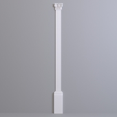 Pilaster Europlast. Capital: 1.21.001, Barrel: 1.22.010, Base: 1.23.100