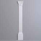 Pilaster Europlast. Capital: 1.21.002, Barrel: 1.22.020, Base: 1.23.200