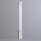 Pilaster Europlast. Capital: 1.21.003, Barrel: 1.22.030, Base: 1.23.300
