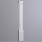 Pilaster Europlast. The capital: 1.21.004, Trunk: 1.22.040, Base: 1.23.400