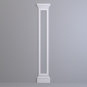 Pilaster Europlast. Capital: 1.21.005, Molding: 1.51.307, Base: 1.23.500