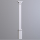 Pilaster Europlast. Capital: 1.21.007, Barrel: 1.22.030, Base: 1.23.300
