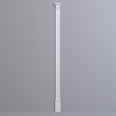 Pilaster Europlast. Capital: 1.21.008, Barrel: 1.22.050, Base: 1.23.600
