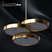 Gold Circles Chandelier