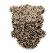 Bedside sheepskin rug fur
