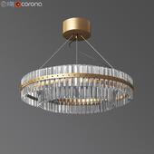 Round Glass Chandelier - Modern Style Living Room Lighting