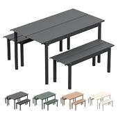 MUUTO Linear Steel Garden Set